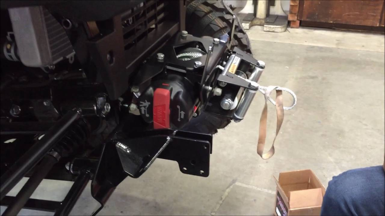 installing a warn front plow mount on a kawasaki 2015. Black Bedroom Furniture Sets. Home Design Ideas