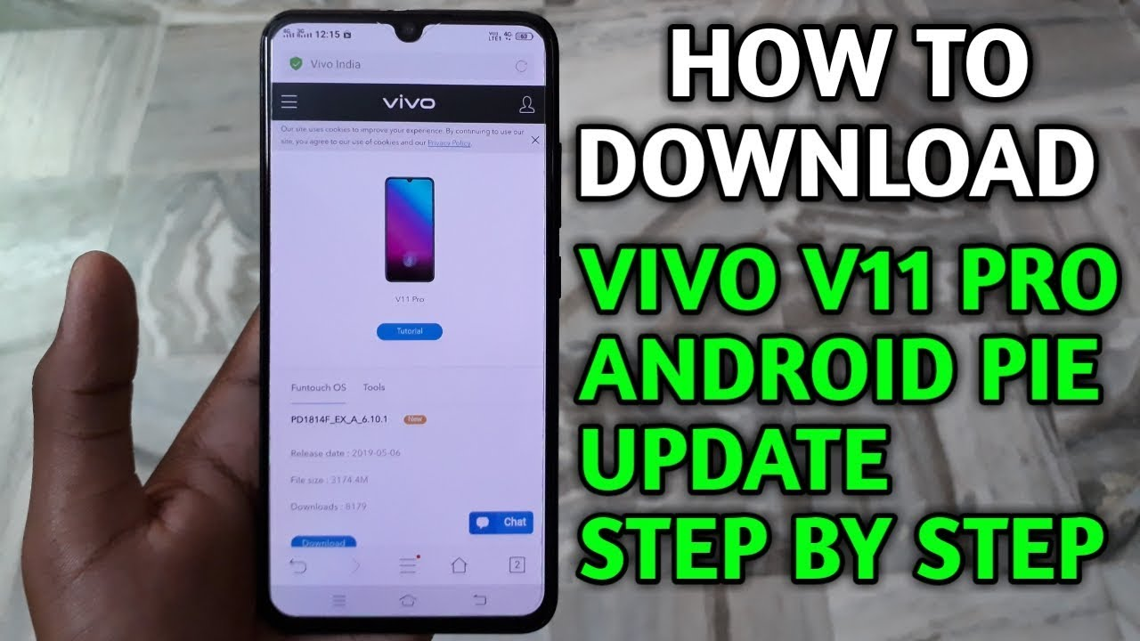 How to download vivo v11 pro android pie update step by step [HINDI]