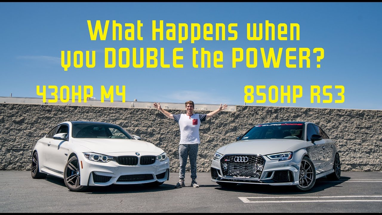 850hp big turbo audi rs3 demolishes my bmw m4 youtube. Black Bedroom Furniture Sets. Home Design Ideas