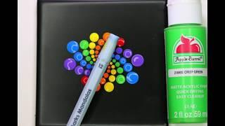 How to Paint Dot Mandalas - Animal Lover Pet Memorial Rainbow Swirl Pattern Tutorial