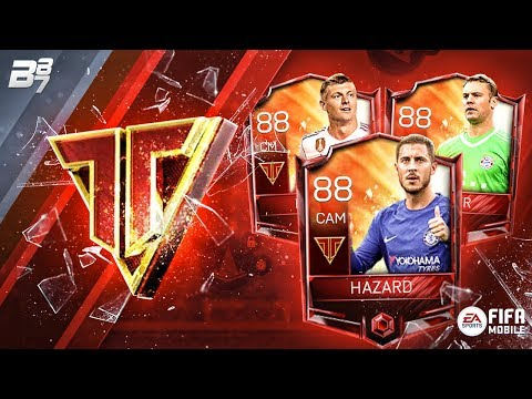NEW TEAM HEROES PACKS! NEUER, KROOS AND HAZARD! | FIFA MOBILE