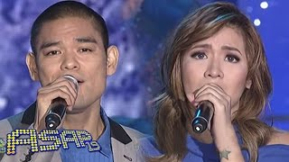 Angeline and Jay-R sing