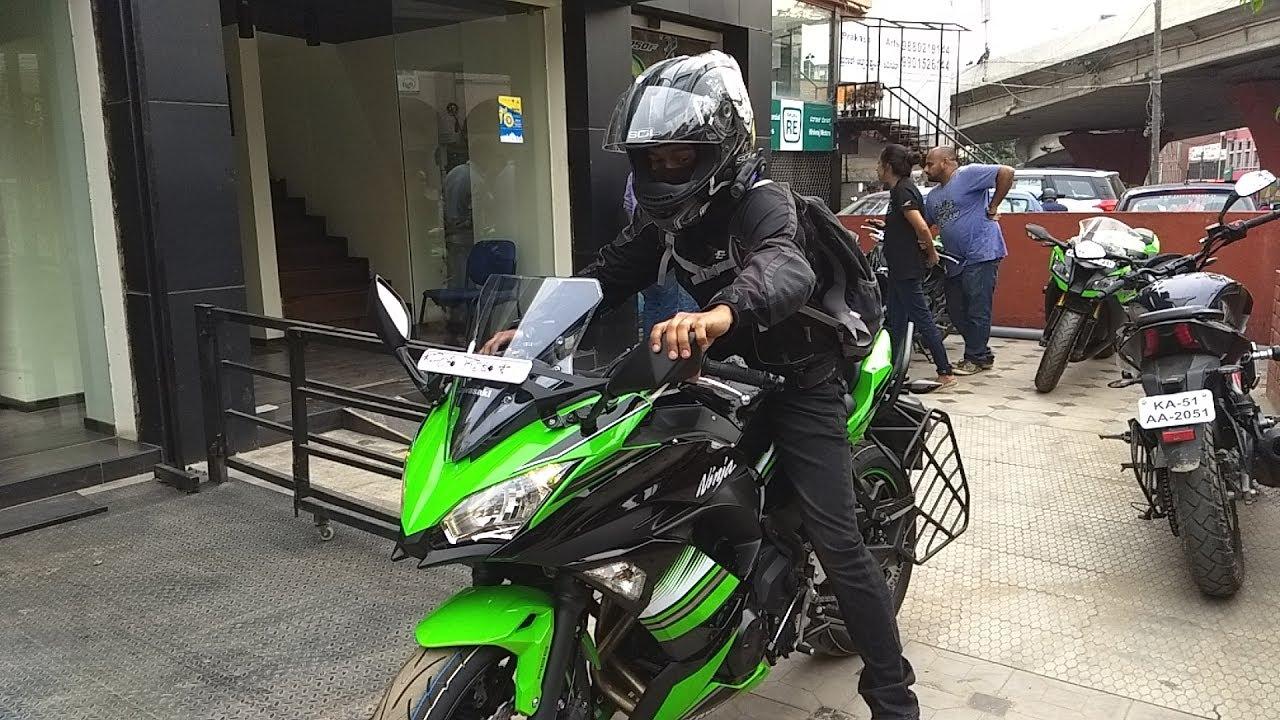 Taking Delivery Of 2017 New Ninja 650 Bangalore Youtube