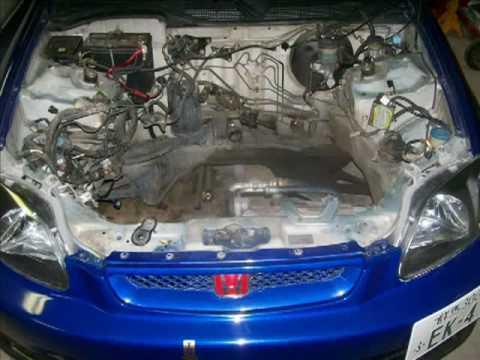 Yonaka Motor Mounts H22A EK 96-00 Honda Civic Hatch Install - YouTube