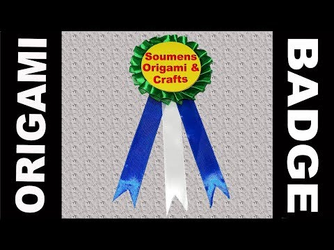 DIY How To Make a Badge With Paper : School Badge Project Easy Tutorial By Soumens Origami & Crafts