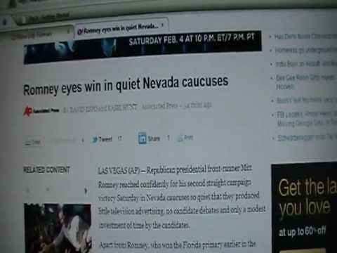 PROOF-  AP & YAHOO MEDIA FRAUD NEVADA CAUCUS!!