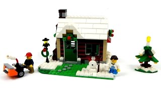 Lego Creator 31038 Changing Seasons Model C - Winter Cottage Speed Build