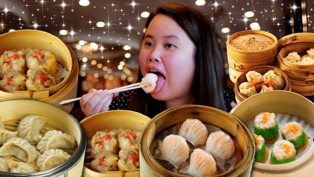 DIM SUM MUKBANG 먹방 SIU MAI (SHUMAI) + HAR GOW + FRIED SHRIMP BALLS + FRIED SEAWEED ROLLS EATING SHOW