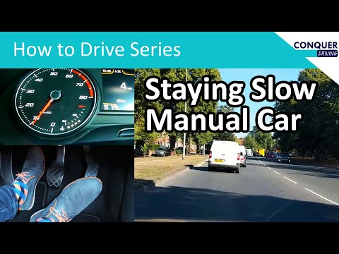Clutch control in traffic - how to keep a manual car slow