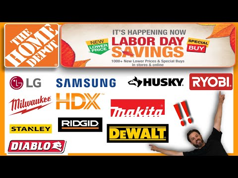 Home Depot Labor Day Sale! Deals, Discounts, and Savings 2020. Free tools, batteries & deliveries
