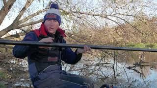 Рыбалка с Юрием Сипцовым.Ловля плотвы на малой реке поздней осенью на штекер.