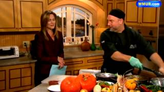 Pistachio-encrusted Chicken, Squash And Honey Crisp Apple Chutney
