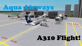 ROBLOX | Aqua Airways Airbus A310 vol!