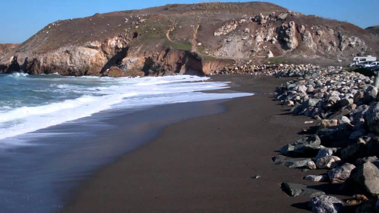 Chocolate Brown Sand At Rockaway Beach