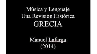 Musica Reservata - Estética Musical: Grecia Clásica - Prof. Manuel Lafarga