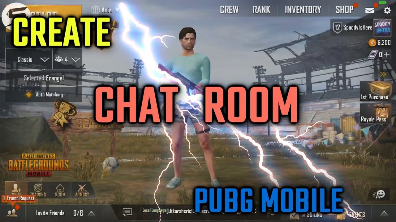 Pubg Create: Create CHAT ROOM In PUBG Mobile
