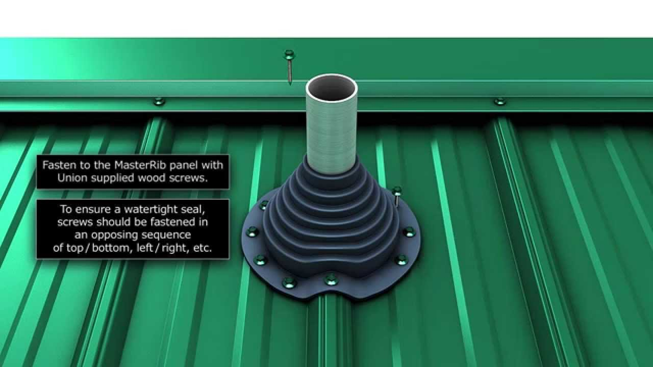 how to install a metal roof pipe boot