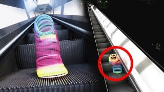 What Happens When You Put a Slinky on an Escalator