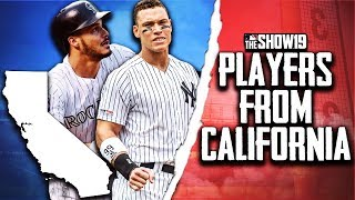 MLB Players From California Rebuild!! | MLB the Show 19