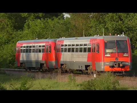 РА1 - 0076 и РА1 - 0014 на перегоне ст. Зеленокумск - Маслов - Кут.