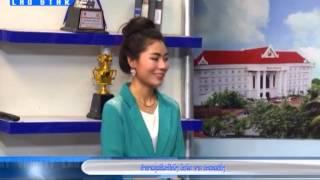 Brigitte sur l'émission télé Lao today varity (Lao star)