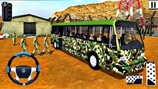 Army Bus Driver Game 2021 - Real Military Coach Simulator Games - Android gameplay screenshot 3