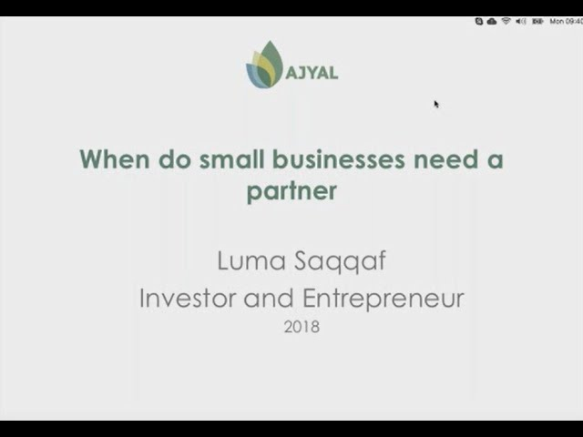 Luma Saqqaf - How to find a business partner?