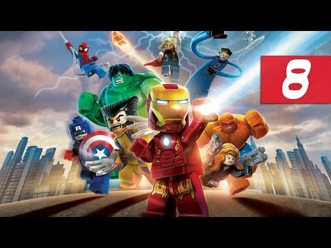 Lego Marvel Super Heroes - Walkthrough - Part 8 - Destroying Stark Tower