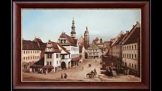 Пейзаж. Старый город. Копирование картины. Живопись маслом.