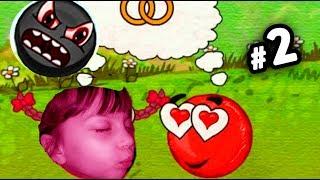 Несносный КРАСНЫЙ ШАР спасает любимую #2. Мультик ИГРА Red Ball 3 приключения детский летсплей