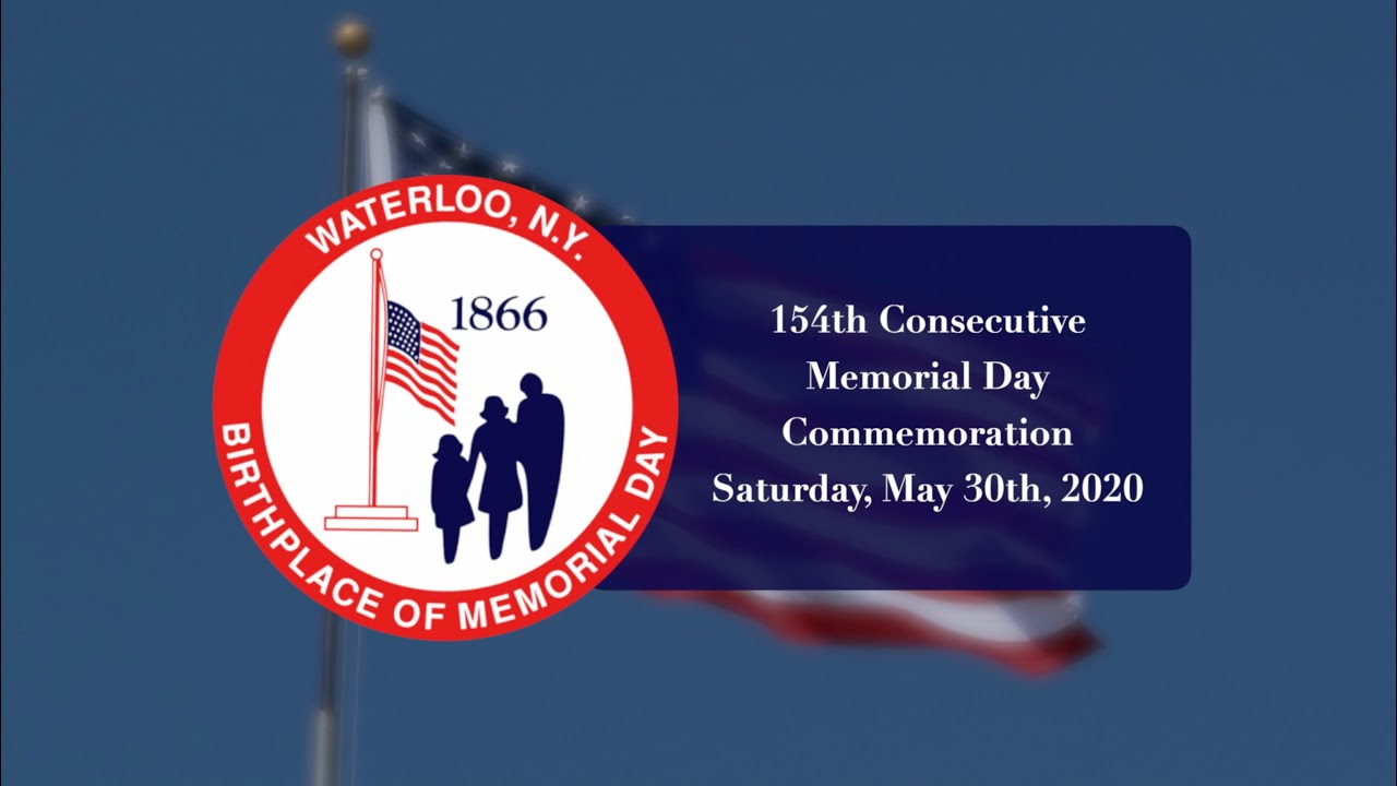 154th consecutive Memorial Day Commemoration in Waterloo (video