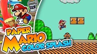 ¡Super Paper Bros 3! - #38 - Paper Mario Color Splash (Wii U) en Español