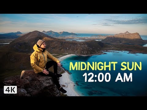 24 HOURS of SUN - Lofoten Norway (4K)