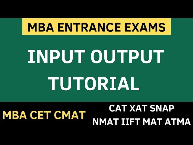 MBA CET 2021 - INPUT OUTPUT LOGICAL REASONING - Tricks and Free PDF | MBA CET 2021 Preparation