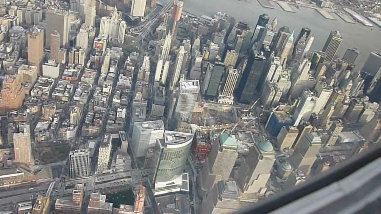 Flying Over New York City And Ground Zero On Approach To