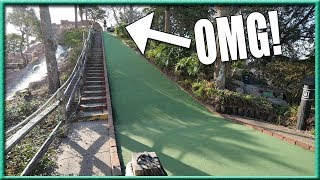 INSANE MINI GOLF HOLE IN ONE AND CRAZY HOLES! | Brooks Holt