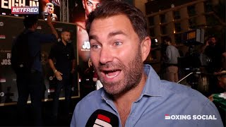"EDDIE HEARN IMMEDIATE REACTION TO RUIZ-JOSHUA 2 WEIGH-IN: ""RUIZ WEIGHT MAKES NO DIFFERENCE!"""