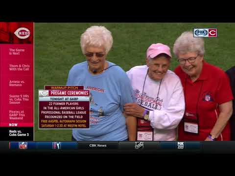 Cincinnati Reds welcome members of the All-American Girls Professional Baseball League