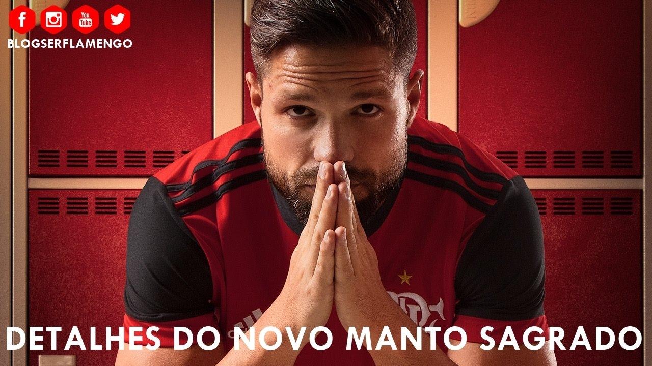 Detalhes do novo Manto Sagrado Flamengo adidas - 2017 2018 - YouTube dbb7a03484f3a