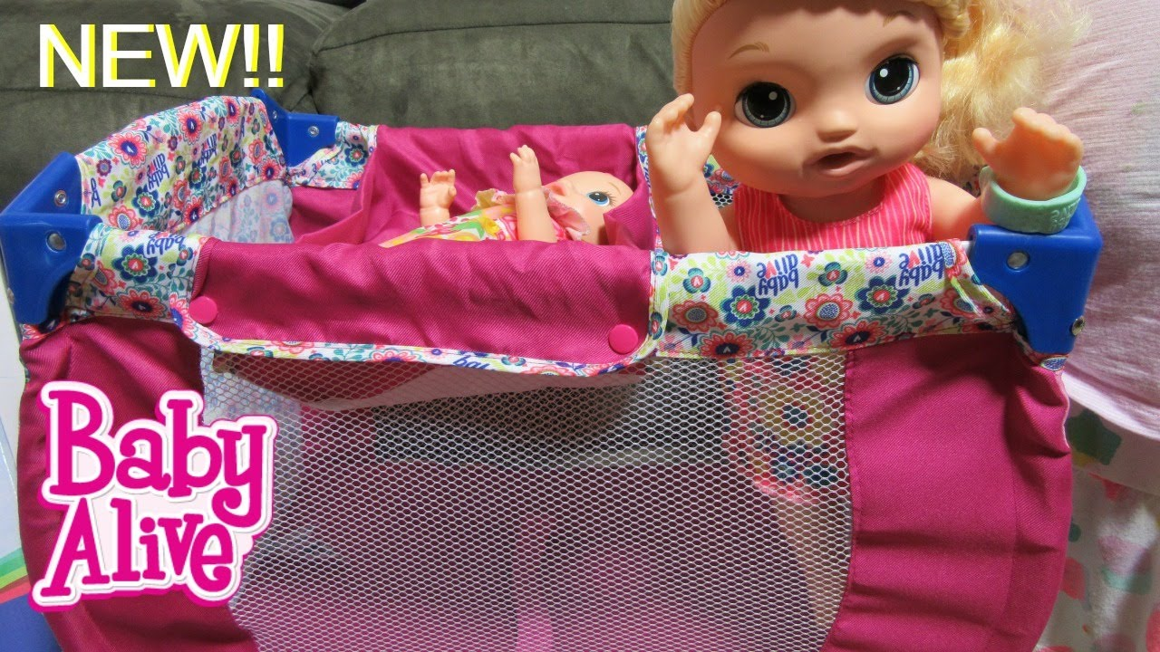 Baby Alive Crib Unboxing Doll Play N Relax 2 In 1 Crib