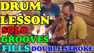 Drum Lesson | Triplet Rudiment | Double Stroke Roll Fills | Drum Solo Ideas| Funk Grooves | Rhythms