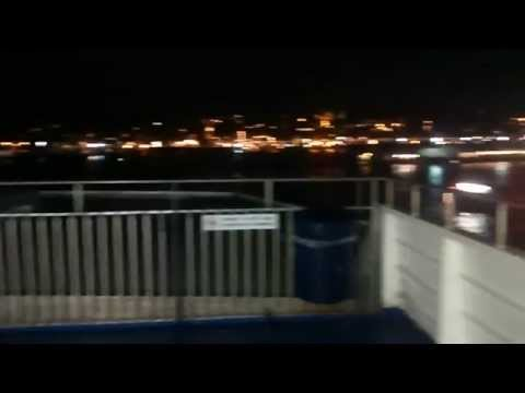 Condor Express leaving Guernsey at night