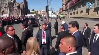 Agradece Maduro recibimiento de mexicanos en Palacio Nacional