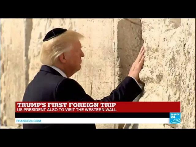 Trump in Israel: US President visits the Western Wall in Jerusalem