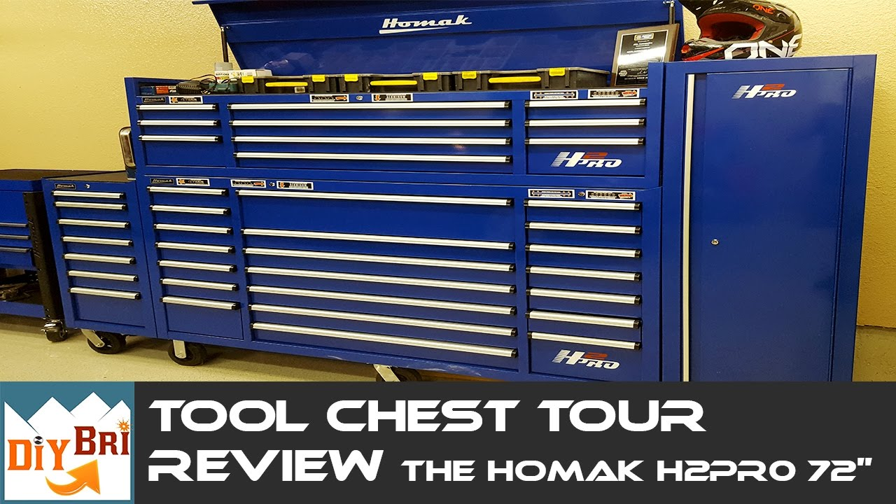 Complete Homak H2pro 72in Tool Box Review Amp Tour Youtube