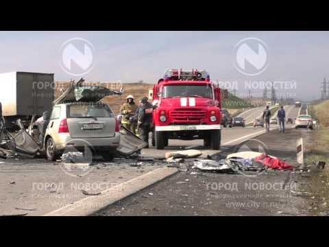 Жуткие кадры с места ДТП на новокузнецкой трассе (18+)