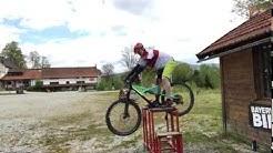 Fahrpositionen beim Mountainbiken mit Manfred