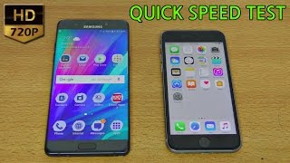Samsung Galaxy Note 7 (720p) vs iPhone 6S - Speed Test (4K)