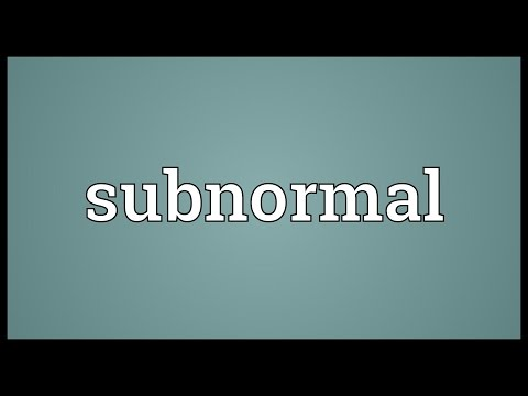 Subnormal Meaning