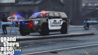 GTA 5 LSPDFR Police Mod 421 | Police Station Attacked By Ballas Gang | Albuquerque PD Chevy Tahoe